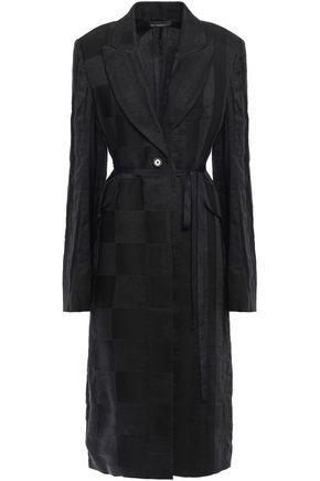 ANN DEMEULEMEESTER Belted linen-blend coat