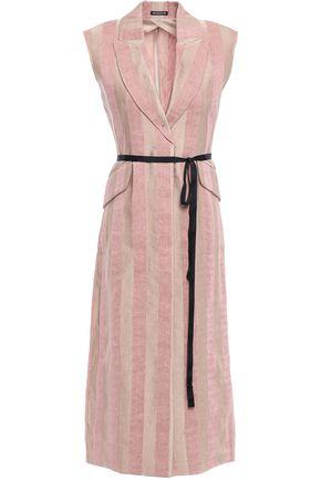 ANN DEMEULEMEESTER Belted striped wool-twill vest