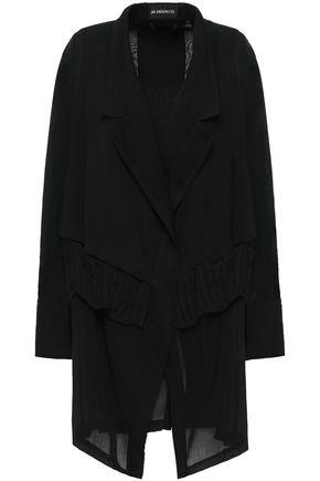 ANN DEMEULEMEESTER Gauze-paneled wool-blend satin-jacquard blazer