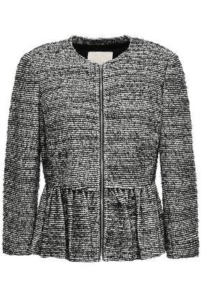 REBECCA TAYLOR Cotton-blend tweed peplum jacket