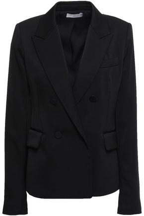 VINCE. Double-breasted satin-crepe blazer