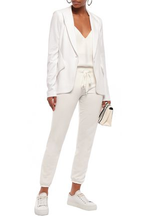 Bailey44 Blazers BAILEY 44 WOMAN STRETCH-JERSEY BLAZER WHITE