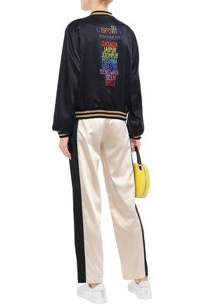 CAMILLA 装飾付き シルクサテン ボンバージャケット