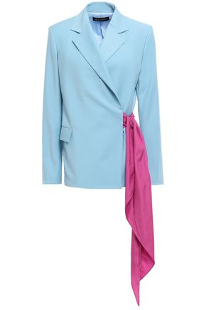 ANNA OCTOBER Belted woven blazer