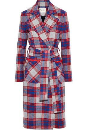 NOVIS The Rumnee belted checked wool-blend coat