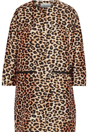 NOVIS The Lou Lou leopard-print silk and wool-blend twill coat