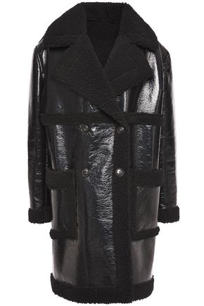 AINEA Double-breasted faux shearling coat