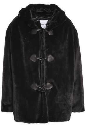 AINEA Faux fur hooded coat