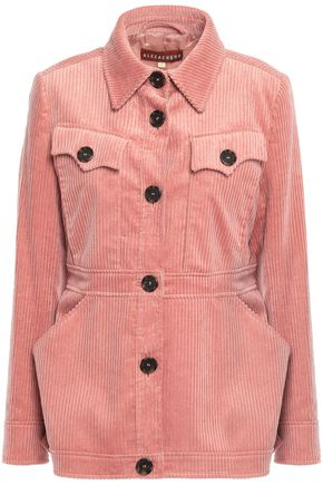 ALEXACHUNG Cotton-blend corduroy jacket
