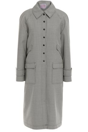 ALEXACHUNG Houndstooth wool-blend coat