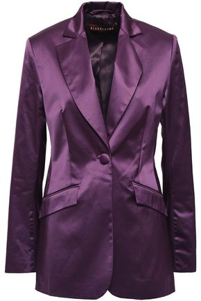 ALEXACHUNG Cotton-blend satin blazer