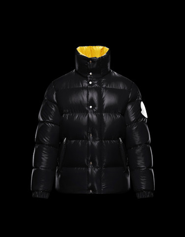 DERVAUX Black Down Jackets Man