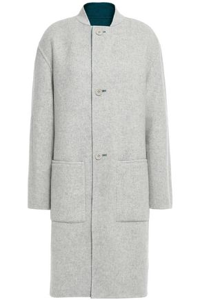 THEORY Two-tone wool-blend felt coat
