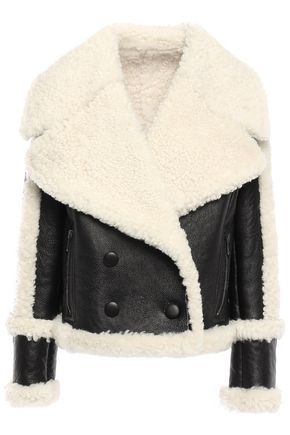 DROMe Double-breasted shearling jacket