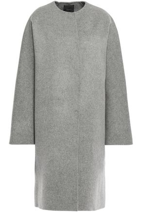THEORY Mélange wool and cashmere-blend coat
