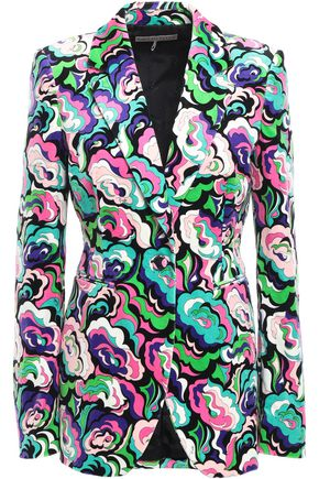 EMILIO PUCCI Printed stretch cotton-velvet blazer