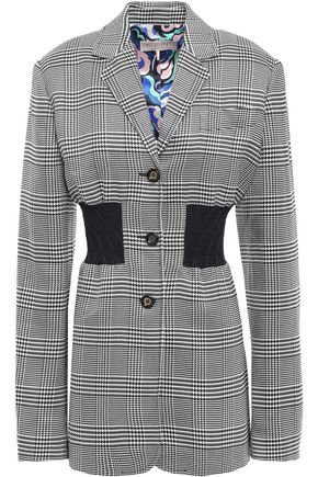 EMILIO PUCCI Shirred checked twill blazer
