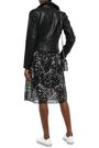 DKNY Studded quilted faux leather biker jacket