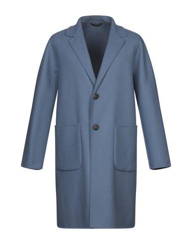 Фото - Мужское пальто или плащ HEVÒ грифельно-синего цвета