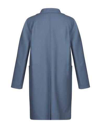 Фото 2 - Мужское пальто или плащ HEVÒ грифельно-синего цвета