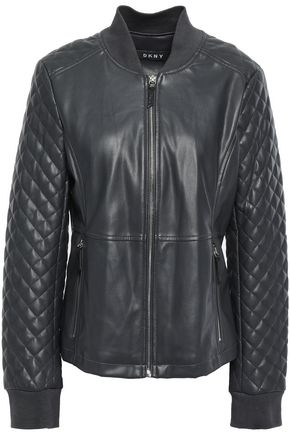 DKNY Quilted faux leather jacket