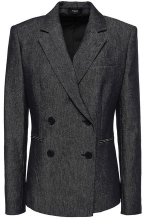 THEORY Double-breasted denim blazer
