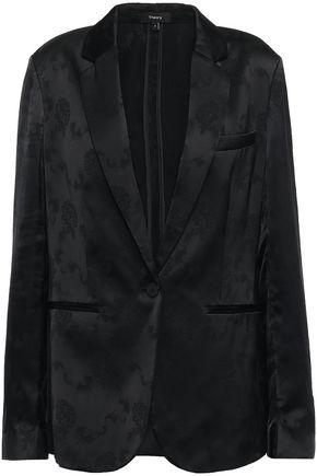 THEORY Grinson satin-jacquard blazer