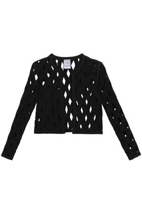 HERVÉ LÉGER Cutout knitted jacket