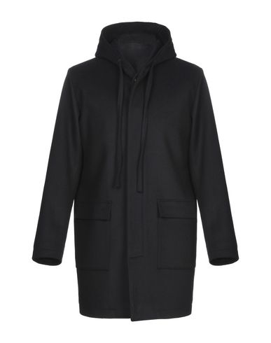Купить Мужское пальто или плащ LE QARANT темно-синего цвета