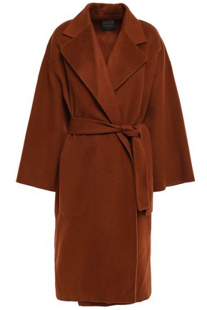 THEORY Belted wool and cashmere-blend felt coat