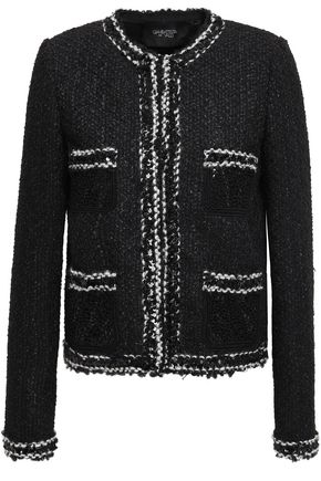 GIAMBATTISTA VALLI Embellished bouclé-tweed jacket