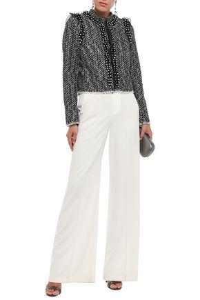 Giambattista Valli Woman Embellished Tweed Jacket Black