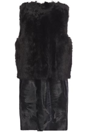 KARL DONOGHUE Shearling and calf hair vest