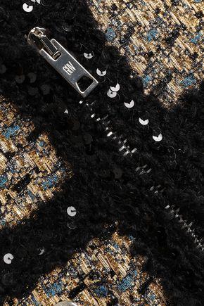 GIAMBATTISTA VALLI 装飾付き ブークレツイード ジャケット