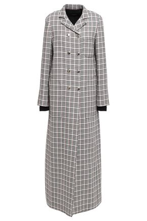 GIAMBATTISTA VALLI Checked wool and cotton-blend coat