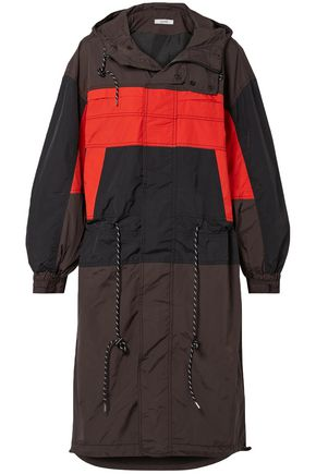 GANNI Faust color-block shell hooded jacket