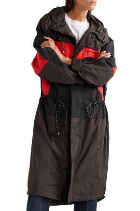 GANNI カラーブロック シェル加工生地 フード付きジャケット