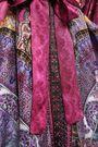 CAMILLA フリンジ&装飾付き プリント シルクツイル ローブ