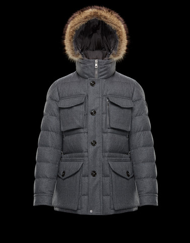 AUGERT Grey Down Jackets Man