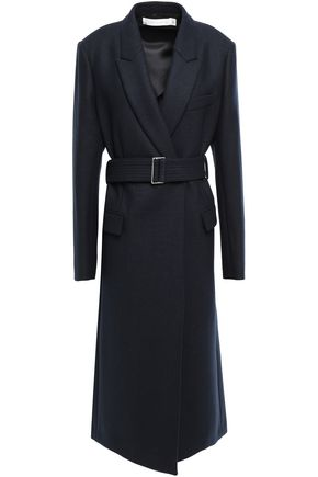 VICTORIA BECKHAM Belted wool-blend felt coat
