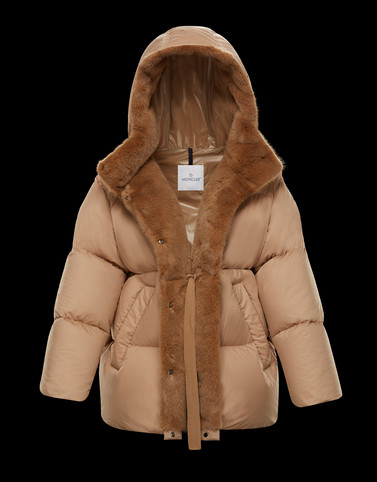 NERUMFUR Camel Category Overcoats Woman