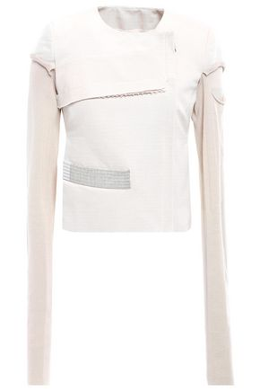 RICK OWENS Paneled cotton jacket