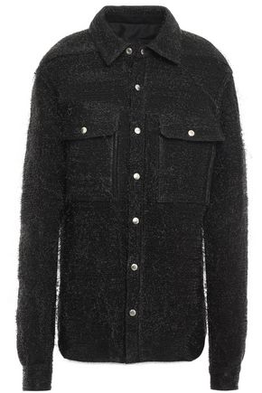 RICK OWENS Frayed brushed-jacquard jacket