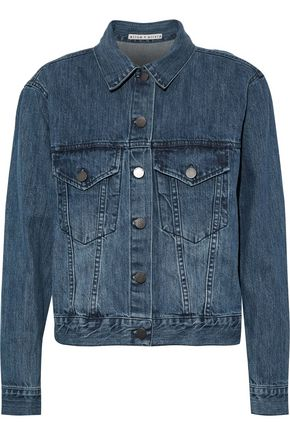 ALICE + OLIVIA Chloe appliquéd denim jacket