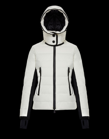 LAMOURA White Grenoble Down Jackets and Gilets Woman