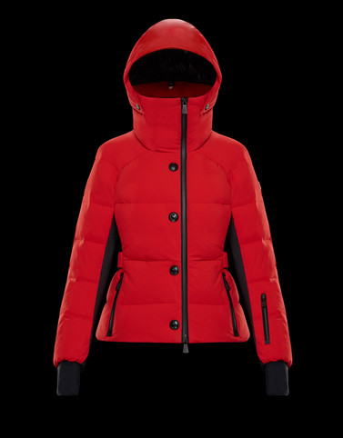 GUYANE Red Short Down Jackets Woman