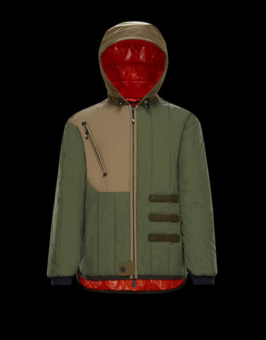 INDREN Dark green Category Overcoats Man