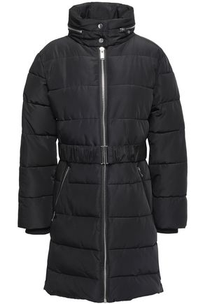 CLAUDIE PIERLOT Gym quilted shell hooded down jacket
