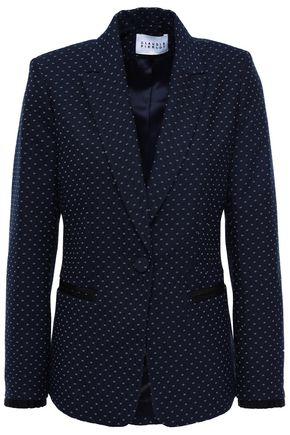 CLAUDIE PIERLOT Vintage grosgrain-trimmed jacquard blazer