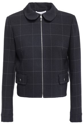 CLAUDIE PIERLOT Verite cropped checked woven jacket
